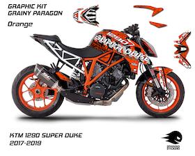 "KTM 1290 SUPER DUKE R Graphic Kit ""Grainy Paragon"" 2017-2019"