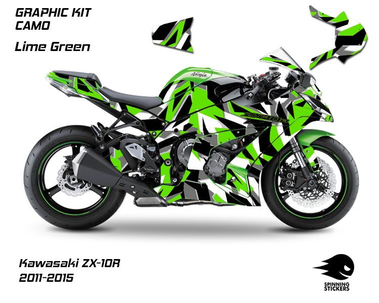"""Kawasaki ZX-10R Graphic Kit """"CAMO"""" 2011-2015"""