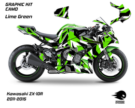 "Kawasaki ZX-10R Graphic Kit ""CAMO"" 2011-2015"