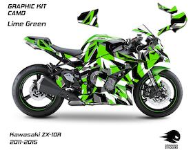 "Grafiche Kawasaki ZX-10R ""CAMO"" 2011-2015"