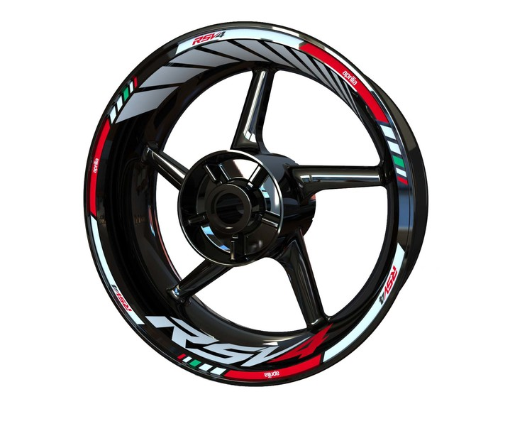 Aprilia RSV4 Wheel Stickers Standard (Front & Rear - Both Sides Included)