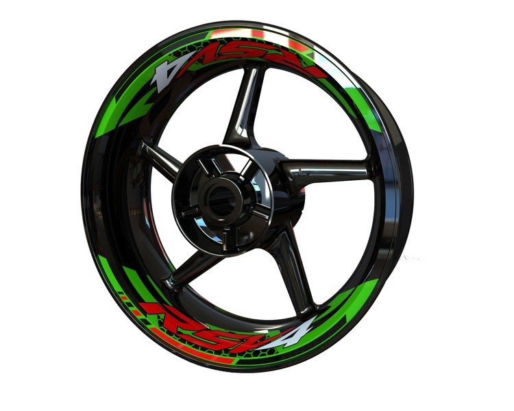 Aprilia RSV4 Rim Stickers 2-piece (Front & Rear - Both Sides Included)