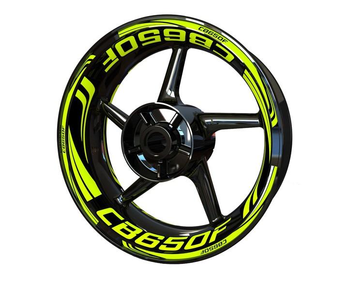 Honda CB650F Wheel Stickers kit - Plus Design