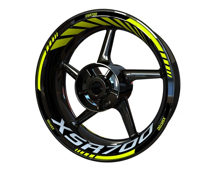 Yamaha XSR700 Wheel Stickers Standard (Front & Rear - Both Sides Included)