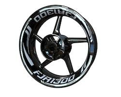 Yamaha FJR1300 Wheel Stickers kit - Plus Design