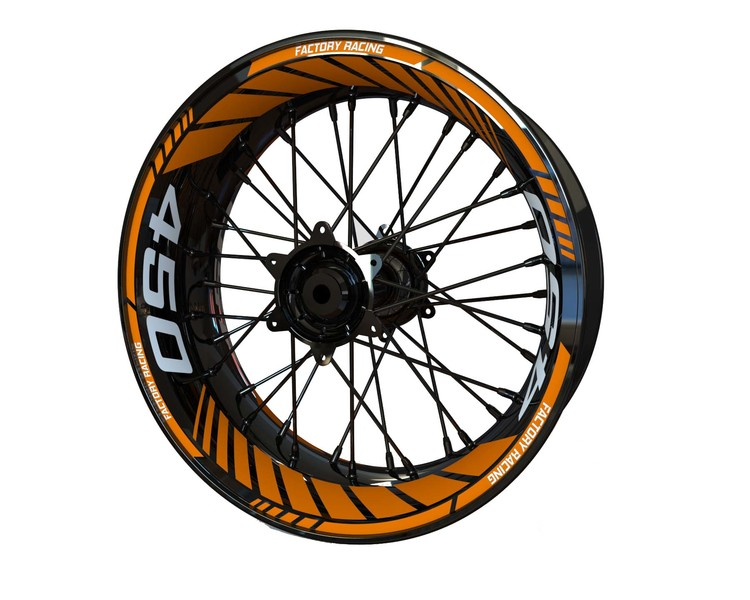 KTM 450 Supermoto Wheel Stickers Standard (Front & Rear - Both Sides Included)