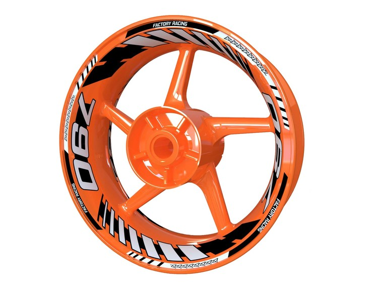 KTM 790 Duke Wheel Stickers Plus V2 (Front & Rear - Both Sides Included)