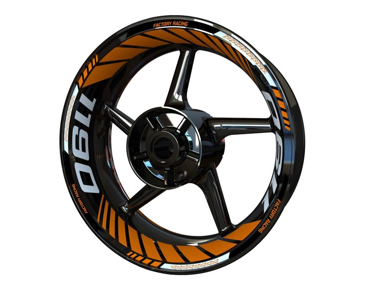 KTM 1190 RC8 Wheel Stickers Plus (Front & Rear - Both Sides Included)