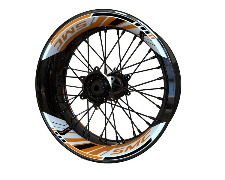 KTM 690 SMC Rim Stickers 2-piece (Front & Rear - Both Sides Included)