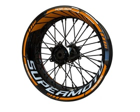 KTM SUPERMOTO Wheel Stickers Standard (Front & Rear - Both Sides Included)