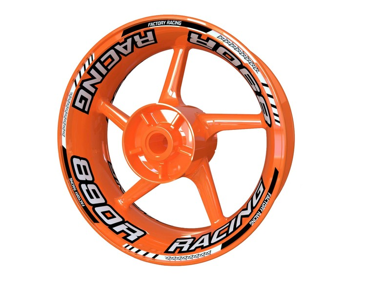 KTM 890 Duke Racing Wheel Stickers Plus V2 (Front & Rear - Both Sides Included)