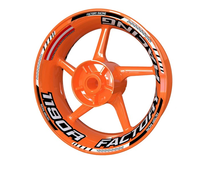 KTM 1190 RC8 R Wheel Stickers Plus (Front & Rear - Both Sides Included)