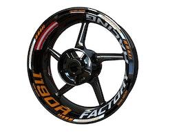 KTM 1190 RC8 R Wheel Stickers kit - Plus Design