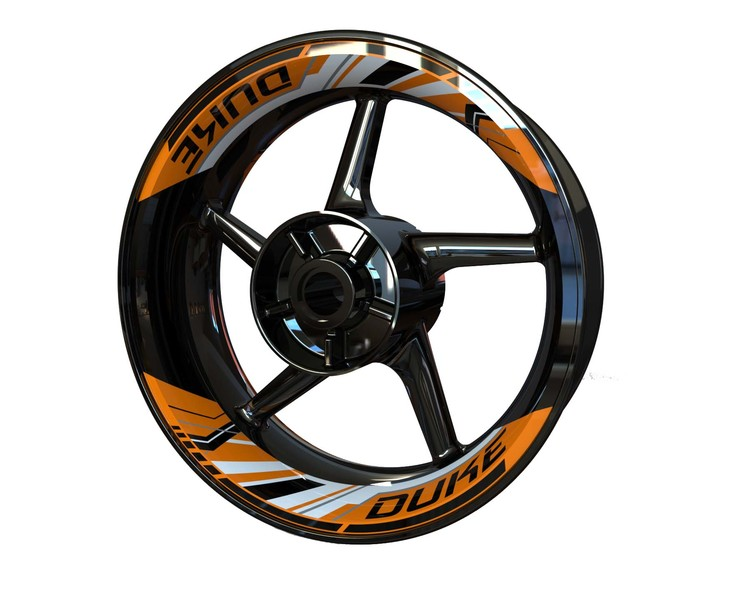 KTM DUKE Rim Stickers 2-piece (Front & Rear - Both Sides Included)