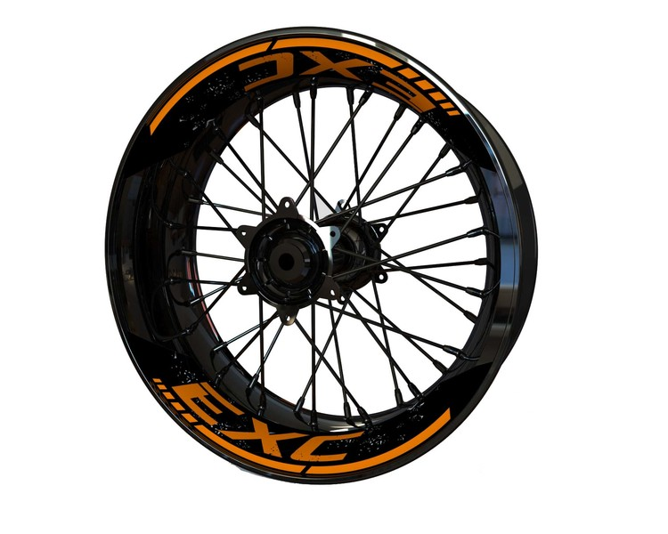 """KTM EXC 17"""" Rim Stickers 2-piece (Front & Rear - Both Sides Included)"""