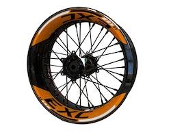 """KTM EXC 17"""" Wheel Stickers kit - 2-Piece Design"""