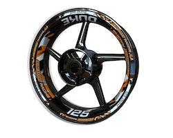 KTM 125 Duke Wheel Stickers kit - Plus Design