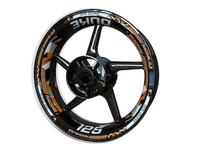 KTM 125 Duke Wheel Stickers Plus (Front & Rear - Both Sides Included)