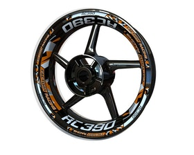 KTM RC390 Wheel Stickers Plus V2 (Front & Rear - Both Sides Included)