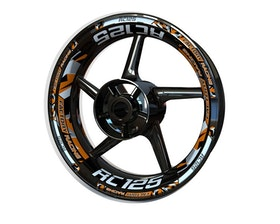 KTM RC125 Wheel Stickers Plus (Front & Rear - Both Sides Included)