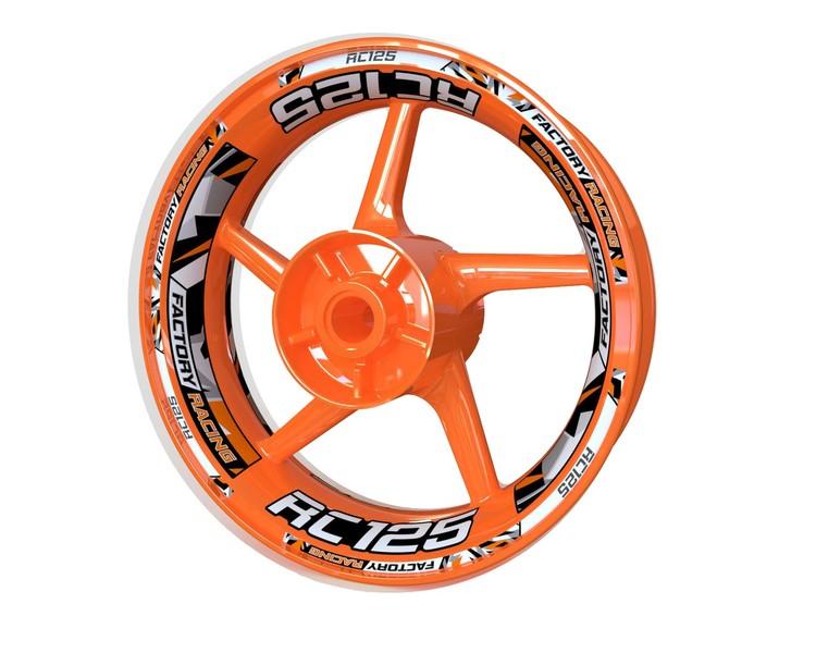 KTM RC125 Wheel Stickers kit - Plus Design