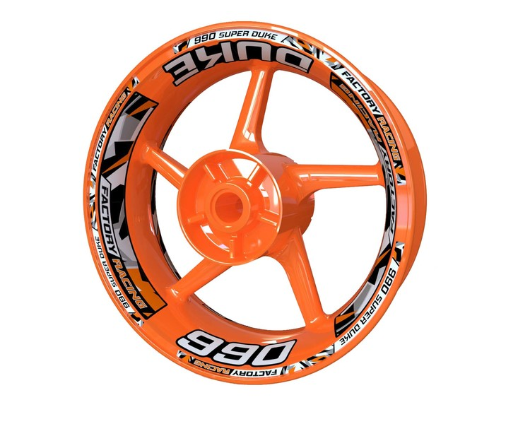 KTM 990 Super Duke Wheel Stickers Plus (Front & Rear - Both Sides Included)