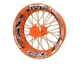KTM 690 SMC Wheel Stickers Plus (Front & Rear - Both Sides Included)