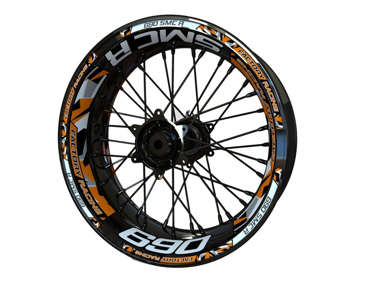 KTM 690 SMC R Wheel Stickers Plus (Front & Rear - Both Sides Included)
