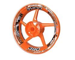 KTM 390 Duke Wheel Stickers kit - Plus Design