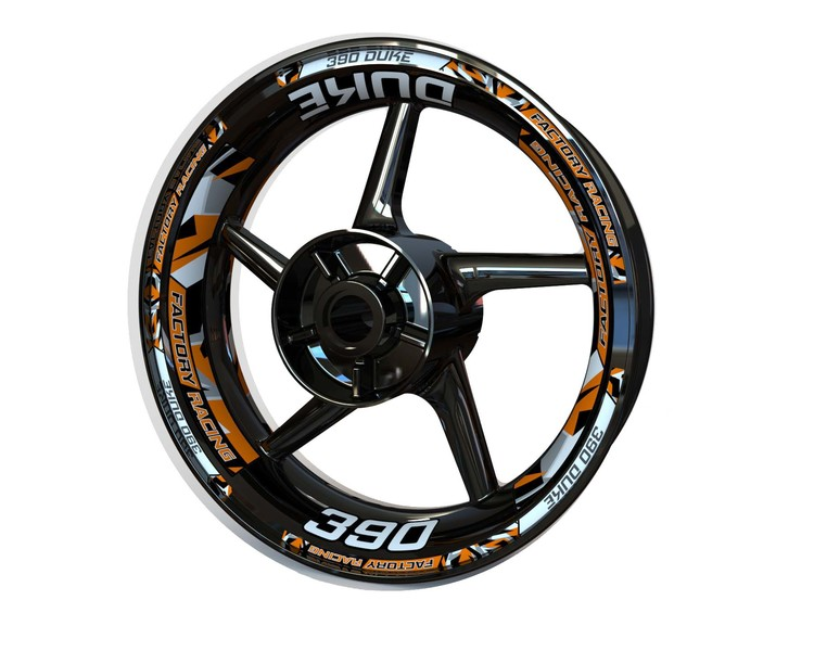 KTM 390 Duke Wheel Stickers Plus (Front & Rear - Both Sides Included)