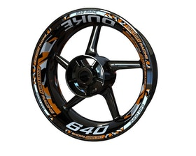 KTM 640 Duke Wheel Stickers Plus (Front & Rear - Both Sides Included)
