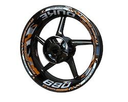 KTM 690 Duke Wheel Stickers kit - Plus Design