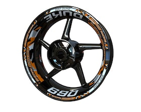 KTM 690 Duke Wheel Stickers Plus V2 (Front & Rear - Both Sides Included)