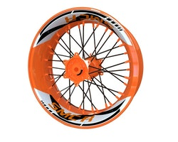 KTM 690 SMC R Wheel Stickers kit - 2-Piece Design