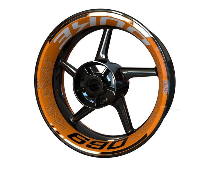 KTM 690 DUKE Wheel Graphics Premium (Front & Rear - Both Sides Included)