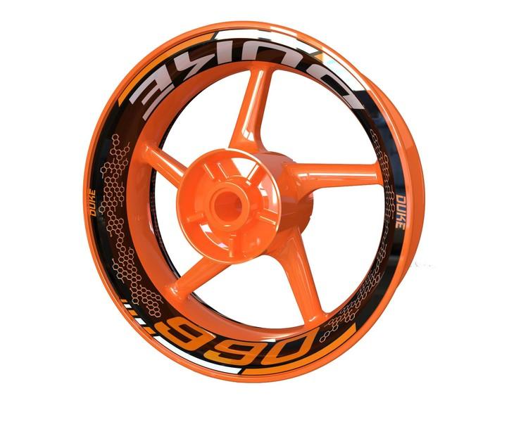 KTM 990 DUKE Wheel Graphics Premium (Front & Rear - Both Sides Included)