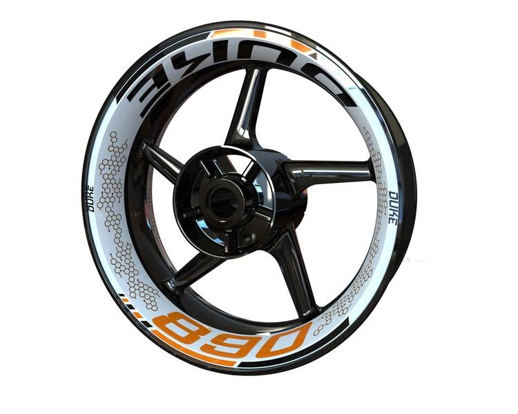 KTM 890 DUKE Wheel Graphics Premium (Front & Rear - Both Sides Included)