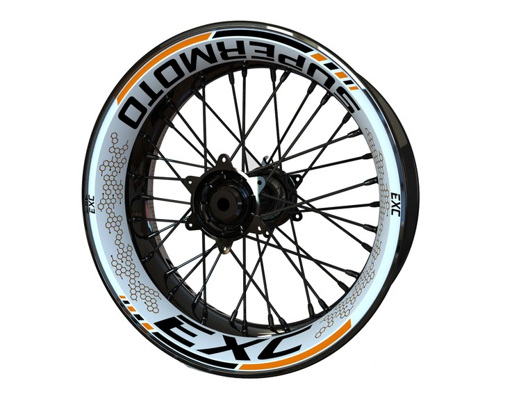 """KTM EXC 17"""" Wheel Graphics Premium (Front & Rear - Both Sides Included)"""