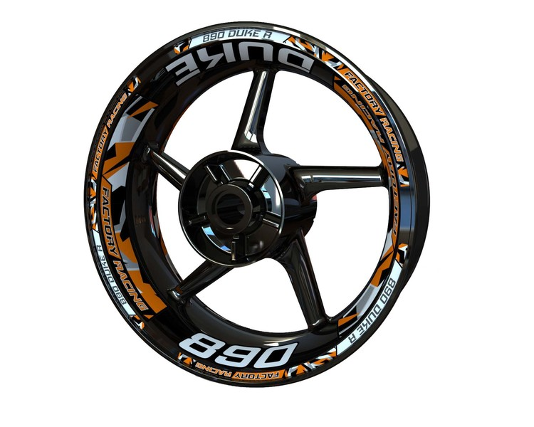 KTM 890 Duke Wheel Stickers Plus (Front & Rear - Both Sides Included)
