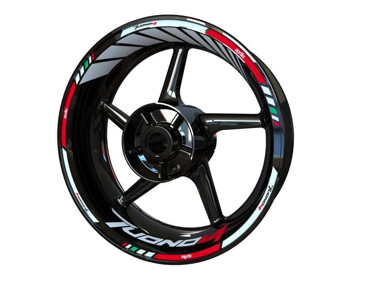 Aprilia Tuono V4 Wheel Stickers Standard (Front & Rear - Both Sides Included)