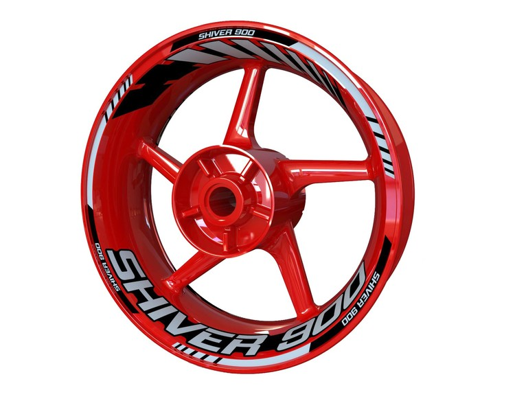 Aprilia Shiver 900 Wheel Stickers Standard (Front & Rear - Both Sides Included)