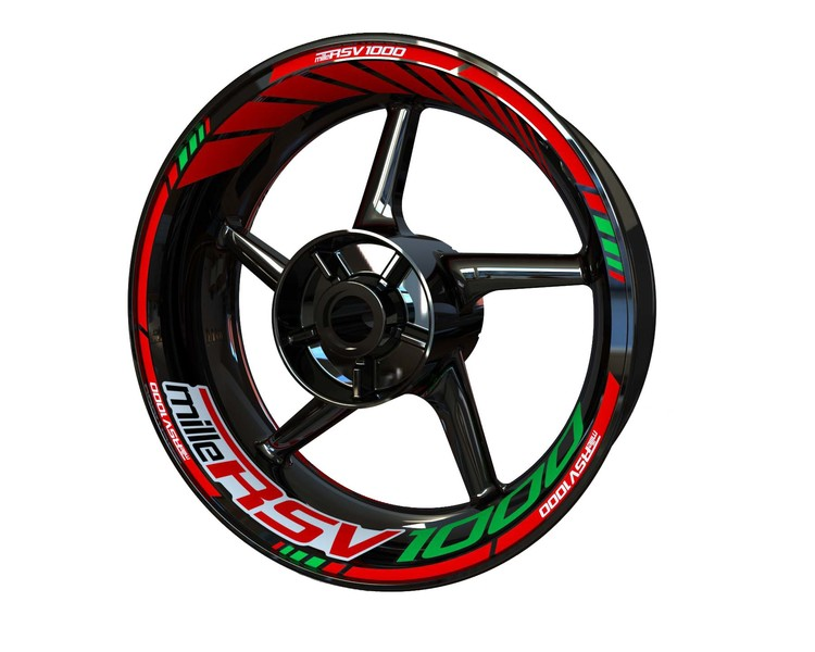 Aprilia RSV1000 MILLE Wheel Stickers Standard (Front & Rear - Both Sides Included)