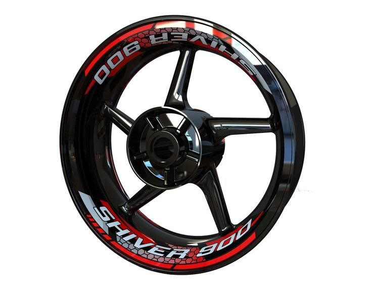 Aprilia Shiver 900 Rim Stickers 2-piece (Front & Rear - Both Sides Included)