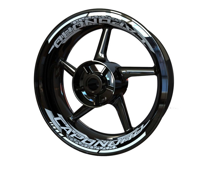 Aprilia CAPONORD Rim Stickers 2-piece (Front & Rear - Both Sides Included)