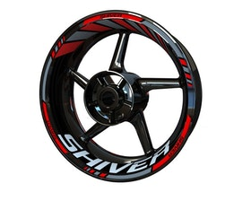Aprilia Shiver Wheel Stickers Standard (Front & Rear - Both Sides Included)
