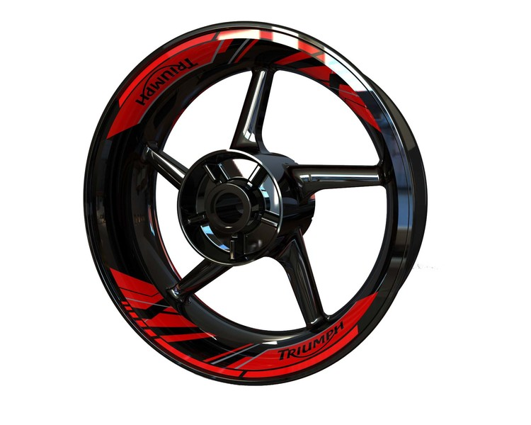 Triumph Rim Stickers 2-piece (Double swingarm) (Front & Rear - Both Sides Included)