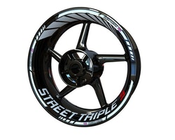 Triumph Street Triple S Wheel Stickers kit - Standard Design