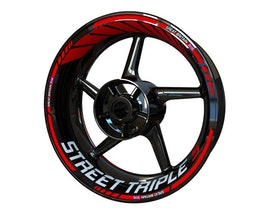 Triumph Street Triple S Wheel Stickers Standard (Front & Rear - Both Sides Included)