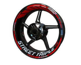Triumph Street Triple R Wheel Stickers Standard (Front & Rear - Both Sides Included)