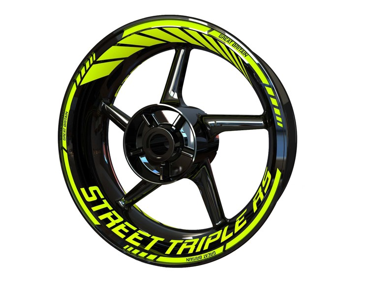 Triumph Street Triple RS Wheel Stickers Standard (Front & Rear - Both Sides Included)